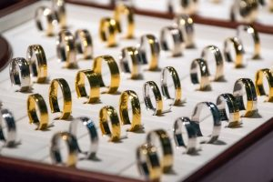 Rings at a jewellers